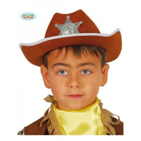 SOMBRERO SHERIF MARRON