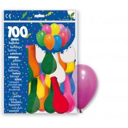 BOLSA 100 GLOBOS MULTICOLOR